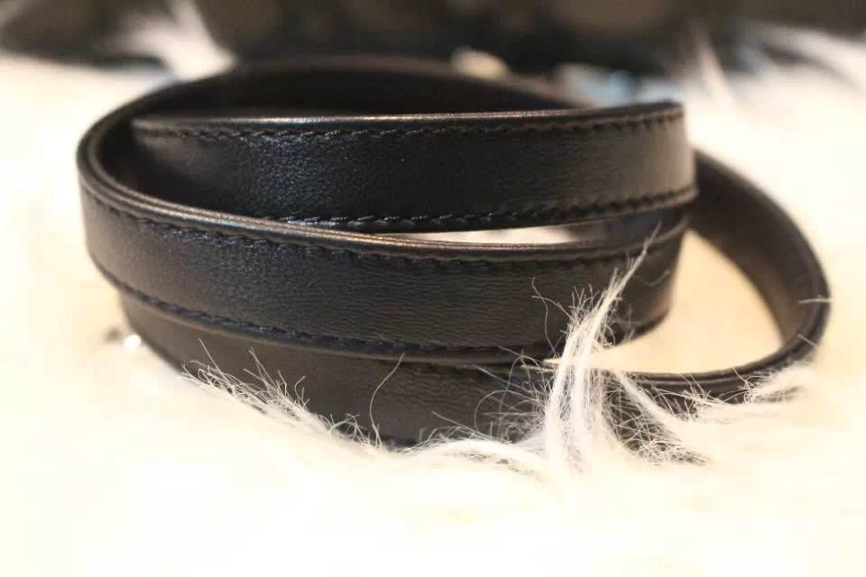 DIOR迪奥黑色七格戴妃包 进口羊皮 太钢电镀五金银扣