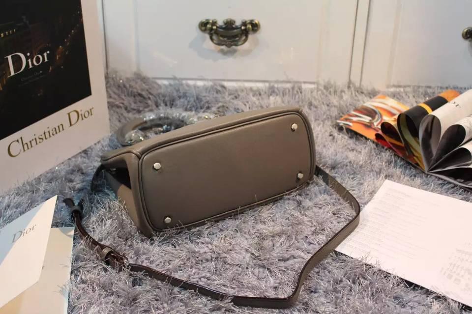 高仿迪奥DIOR包包货源 Dior Diorissimo Vip小号23CM 灰色进口顶级平纹牛皮
