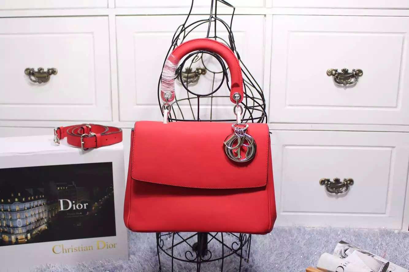 奢侈品女包批发 迪奥Dior新款小蜜蜂大号27CM 红色内拼浅紫色原版顶级牛皮手提包单肩包