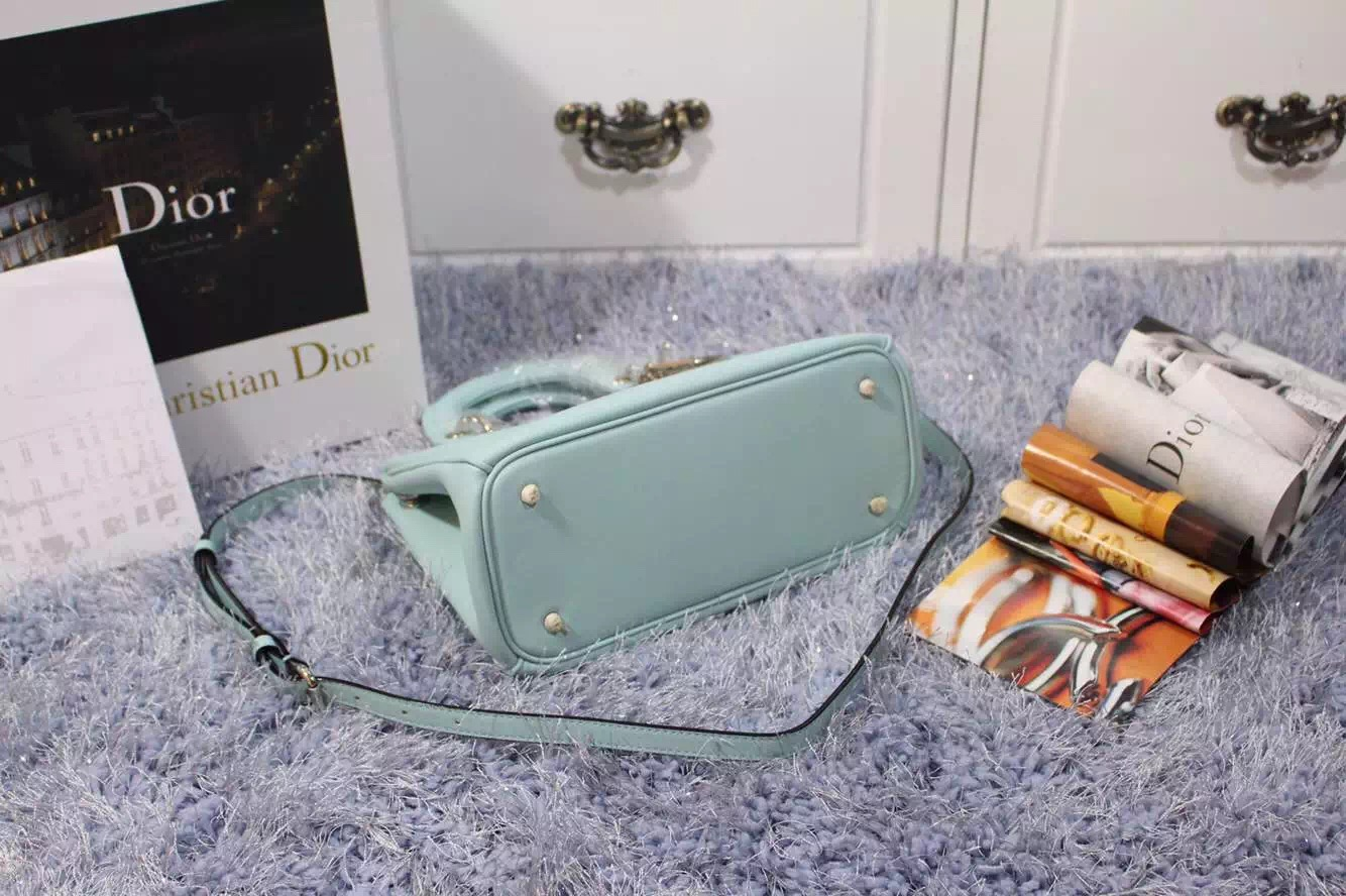 一件代发货 迪奥Dior Diorissimo 进口原版平纹牛皮女包手提包浅色 小号23CM