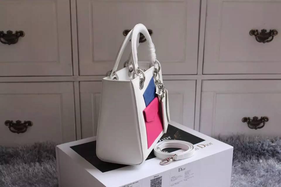 实拍 迪奥DIOR新款女包 白色顶级原版皮巴黎走秀款女士手提包斜挎包