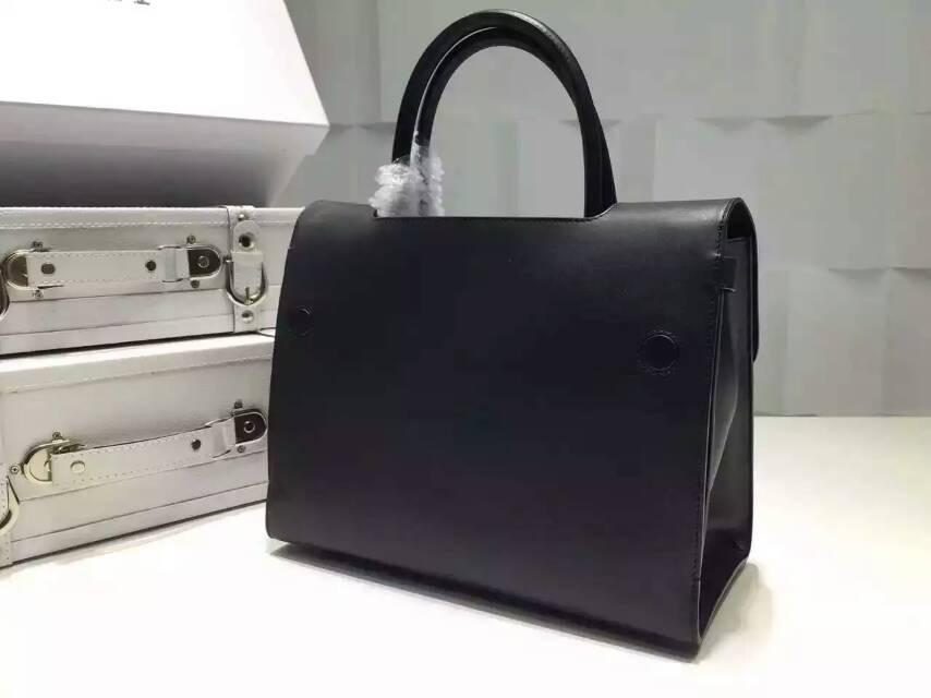 Dior迪奥女包新款 进口原版牛皮手提女包 黑色
