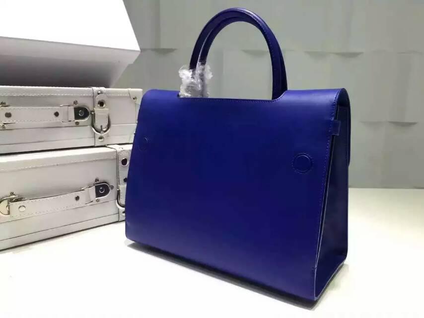 厂家直销 Dior迪奥新款女包 蓝色原版皮高档手提真皮包包