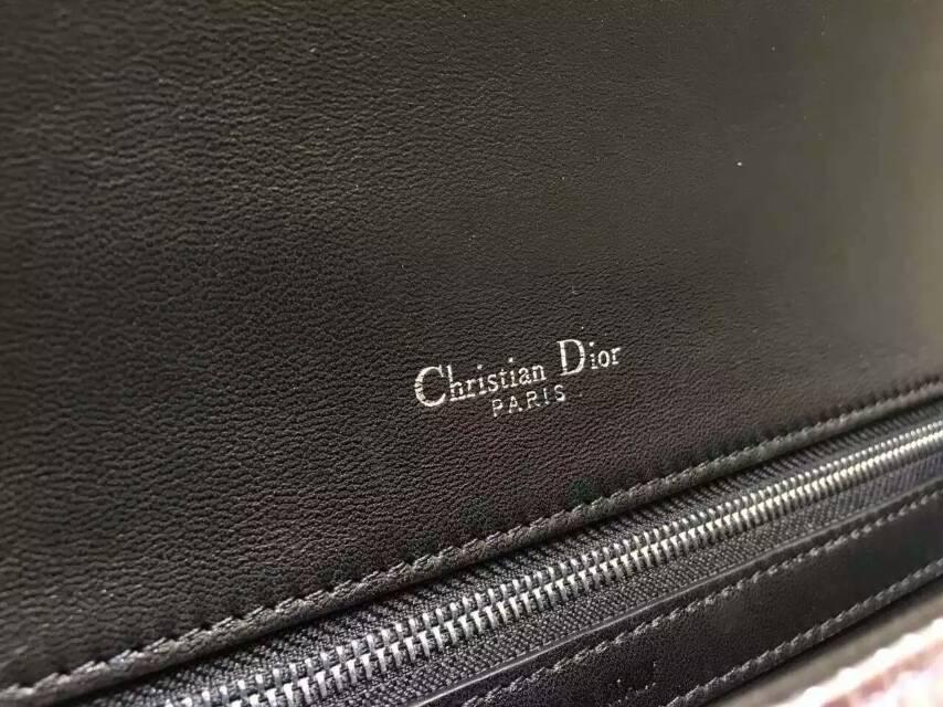 迪奥新款女包 Diorama新款渐变色 原版压纹牛皮链条包25cm