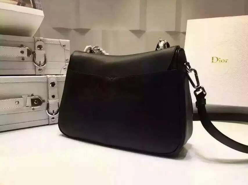 迪奥Dior Dune系列 黑色 进口原版南非牛皮手提女包29cm