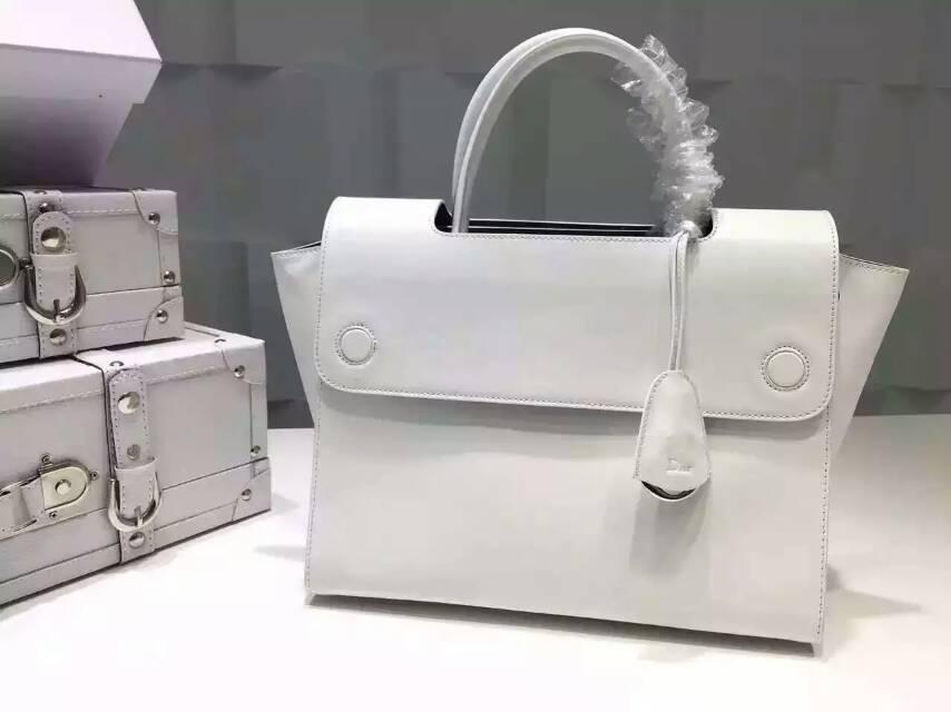 迪奥包包官网 Dior新款原版皮手提女包 白色 高档女包批发