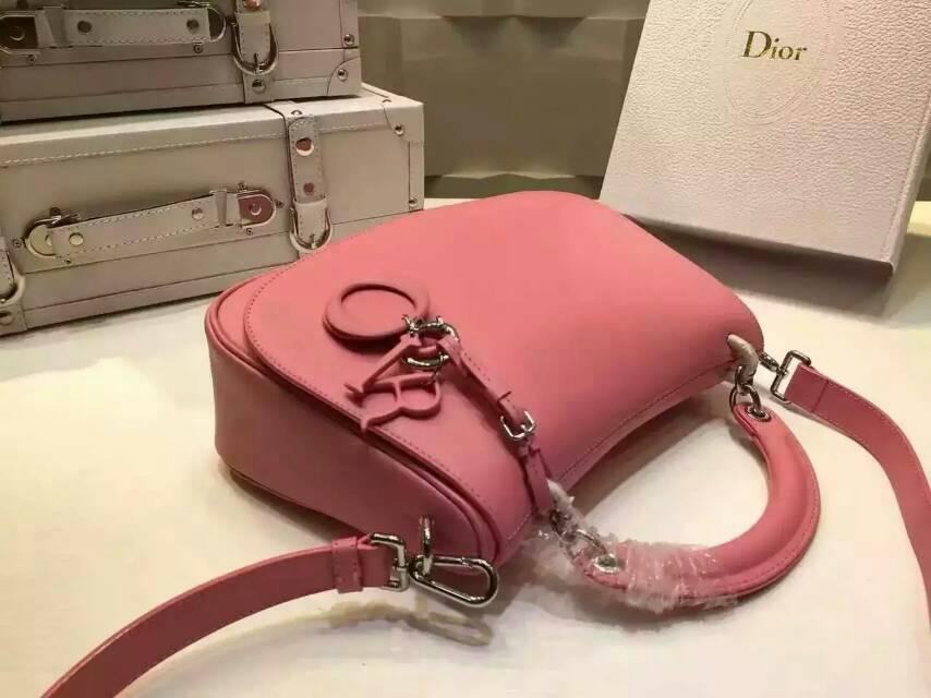 迪奥包包官网 Dior Dune系列手提包斜挎包 原版南非牛皮 粉色