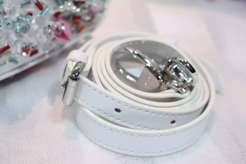迪奥包包批发 Lady Dior mini迷你戴妃包绣珠款 新款手提女包17cm