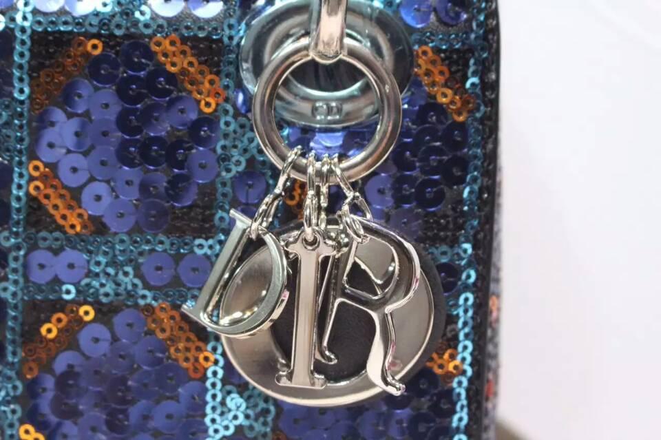 迪奥迷你戴妃包 Lady Dior mini纯手工绣珠三格戴妃包17cm
