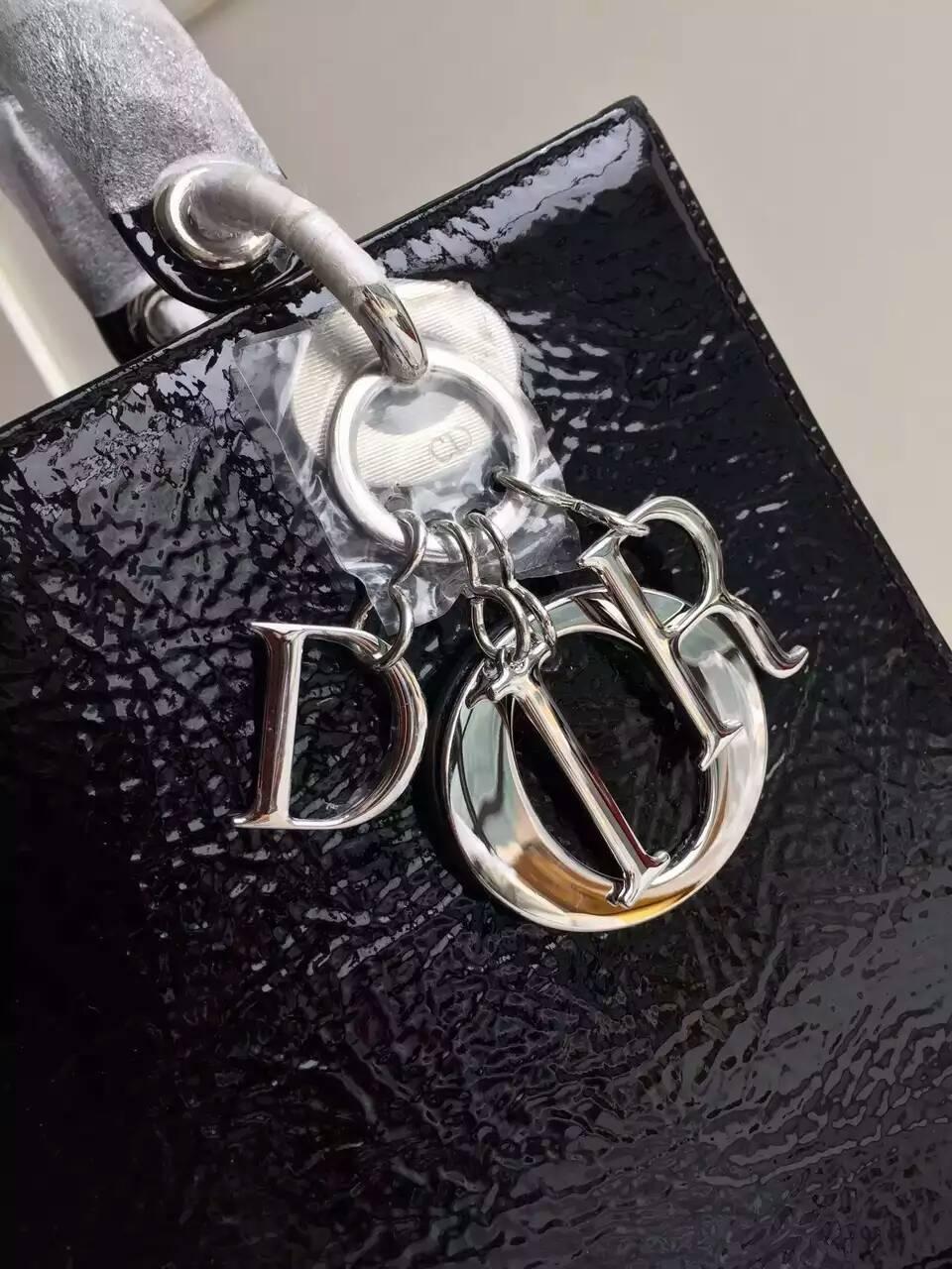 迪奥包包官网 Lady Dior 16年早秋16年早秋白色天鹅彩绘戴妃包24cm