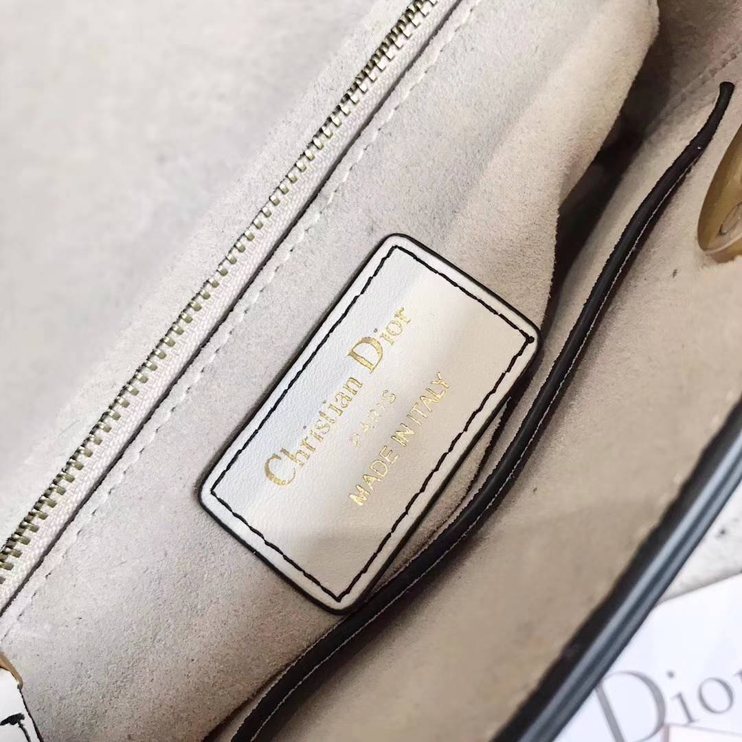 Lady Dior mini 迪奥立体桃心印花新款迷你戴妃包链条斜挎包包17CM