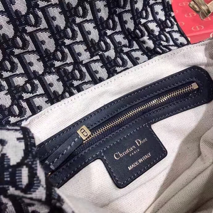 Dior SaddleBag迪奥老花Oblique复古帆布马鞍包单肩女包大号26CM