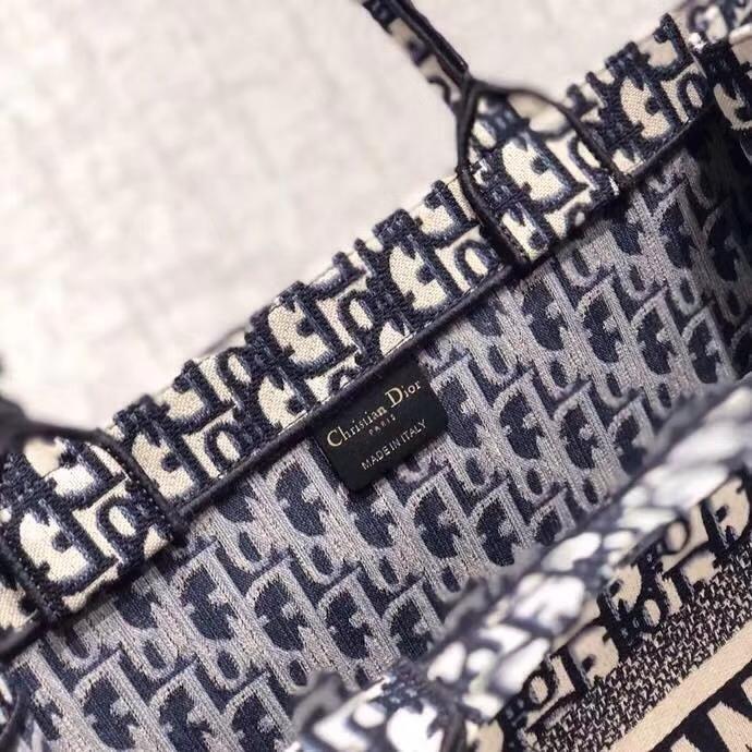 Dior Book Tote 迪奥logo复古印花老花帆布手提包旅行包 男女通用