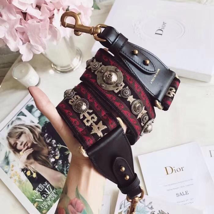 迪奥肩带批发 Dior新款帆布复古五金宽肩带 可搭配多种包包