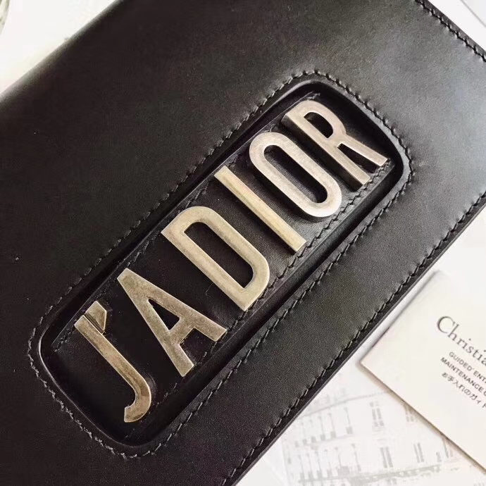 迪奥包包价格 Dior Jadior方形复古链条单肩斜挎女包手包24CM 黑色银链