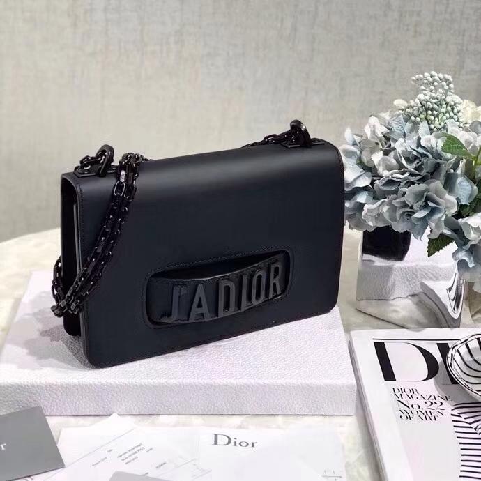 迪奥包包价格 Dior So Black 极致黑系列 Jadior链条手拿包单肩女包24CM