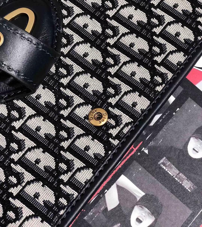 Dior Oblique 迪奥经典老花帆布Logo2019新款手提包可折叠手包38.5CM