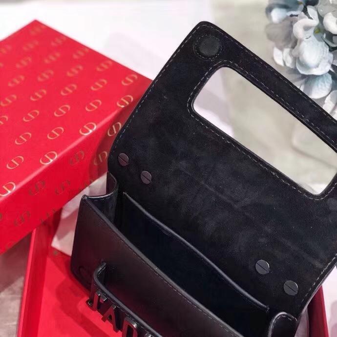 迪奥包包官网 Dior黑色复古链条单肩女包手拿包 Mini Jadior18CM